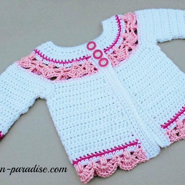 Crochet Pattern: Jasmine Baby Sweater