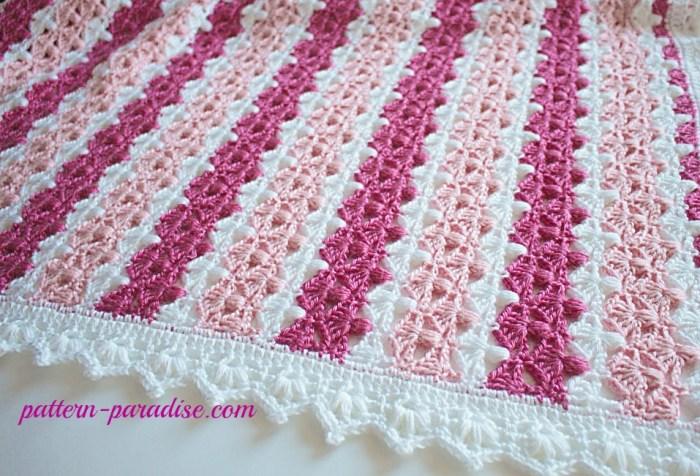 Crochet Pattern Jasmine Blanket by Pattern-Paradise.com