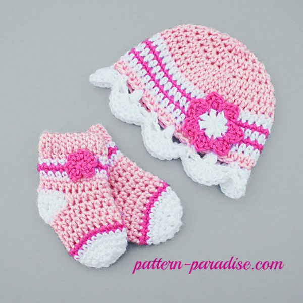 Crochet Pattern: Jasmine Baby Hat and Socks