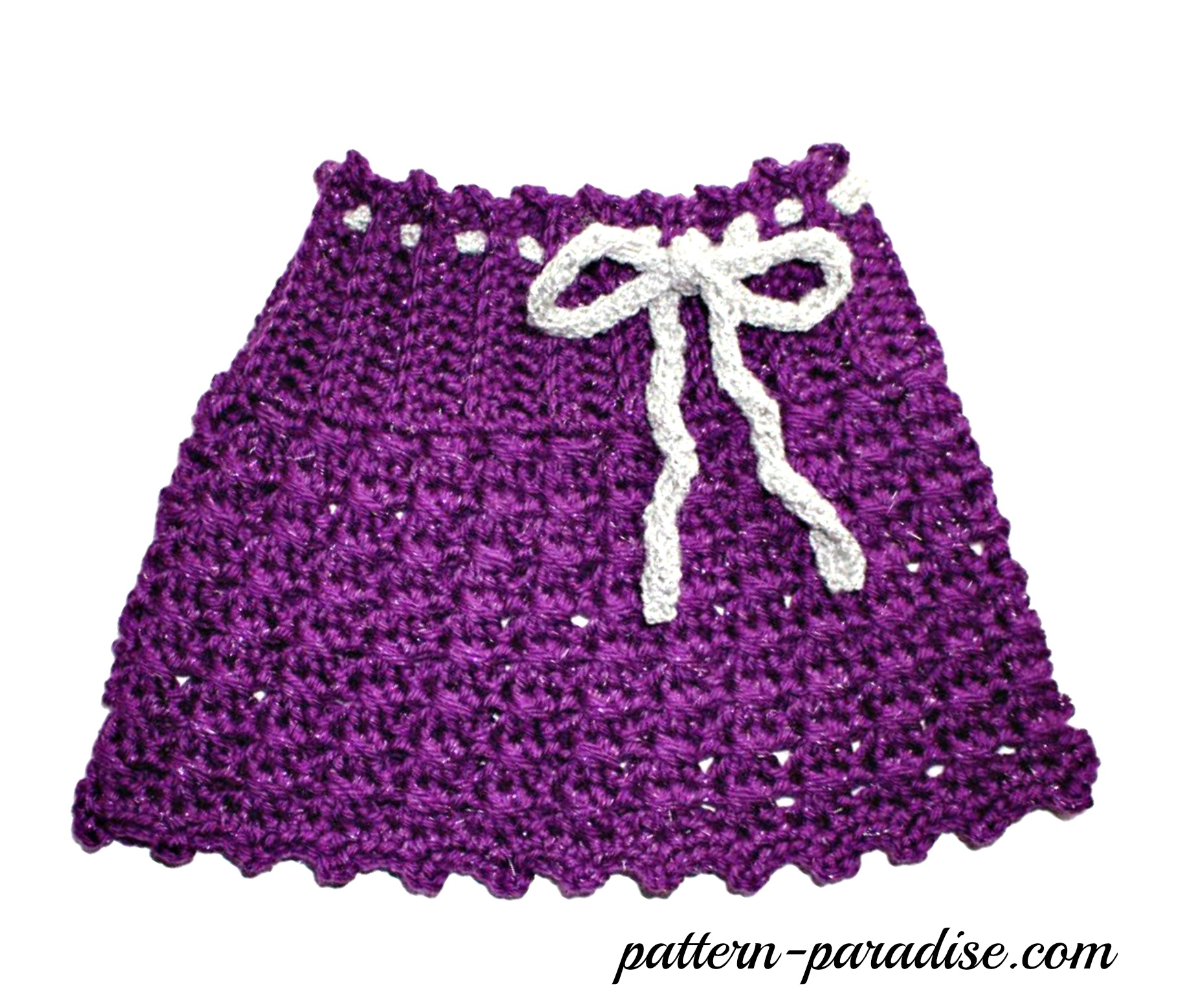 Free Crochet Pattern -X Stitch, Sparkle & Sprinkles Skirt | Pattern ...