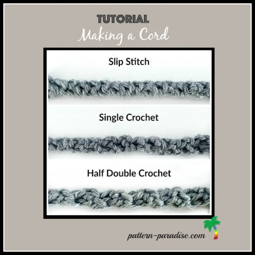Making a Crocheted Cord by Pattern-Paradise.com
