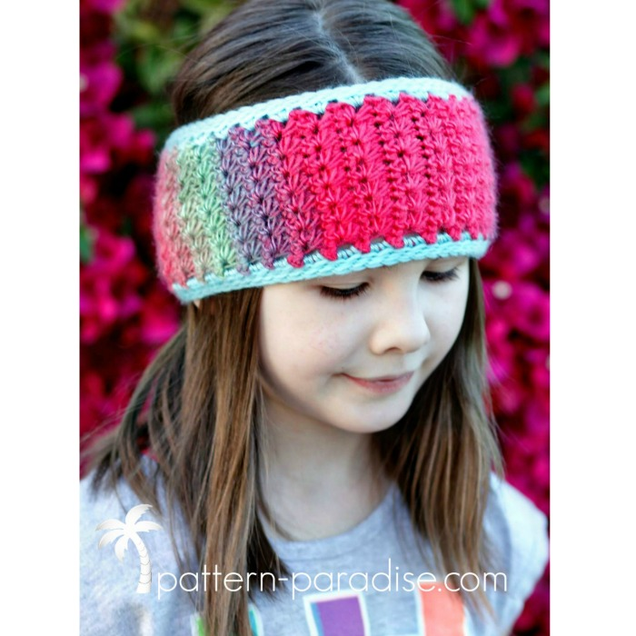 Star Stitch Earwarmer by Pattern-Paradise.com
