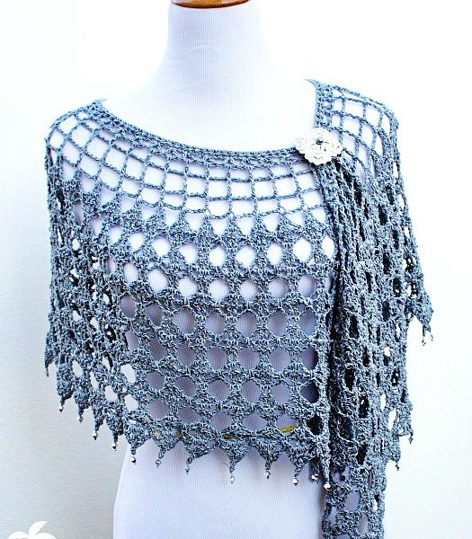 Crochet Pattern: Evening Shimmer Wrap