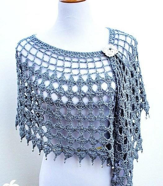 Crochet Pattern: Evening Shimmer Wrap