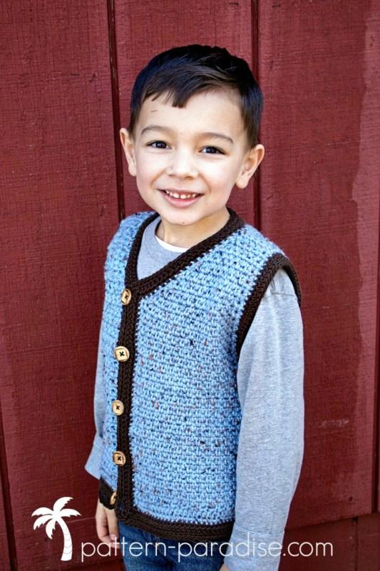 Crochet Pattern Uptown Sweater Vest by Pattern-Paradise.com
