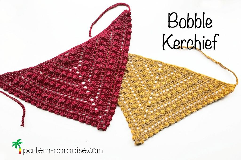 Free Crochet Pattern Bobble Kerchief Pattern Paradise