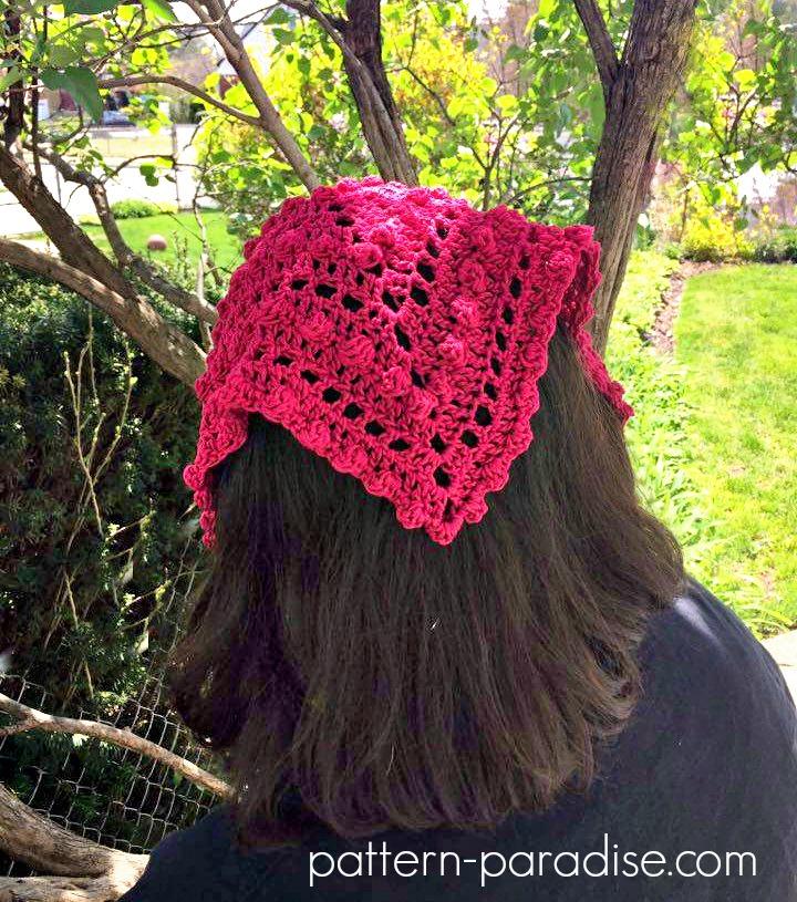 Free Crochet Pattern: Bobble Kerchief   Pattern Paradise