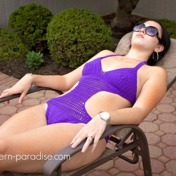 Crochet Pattern: Passion Fruit Monokini Swimsuit