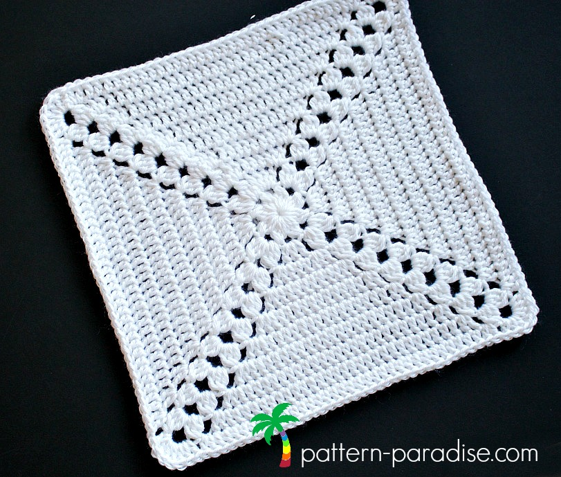 Crochet Pattern Garden Trellis Afghan Square for Rosary Hill CAL by Pattern-Paradise.com