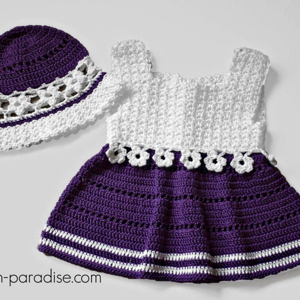 Crochet Pattern: Violet Blooms Set