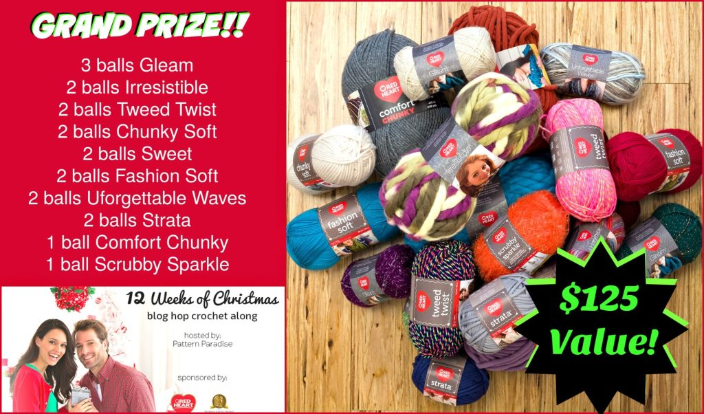 #12WeeksChristmasCAL $125 Prize Package on Pattern-Paradise.com