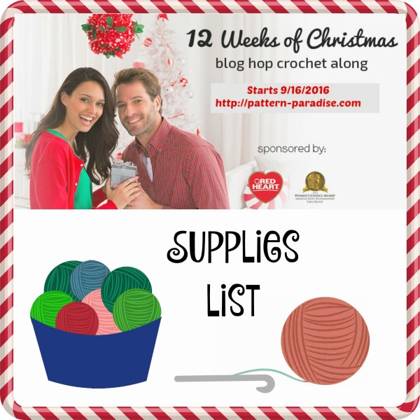 #12WeeksChristmasCAL – Supplies List