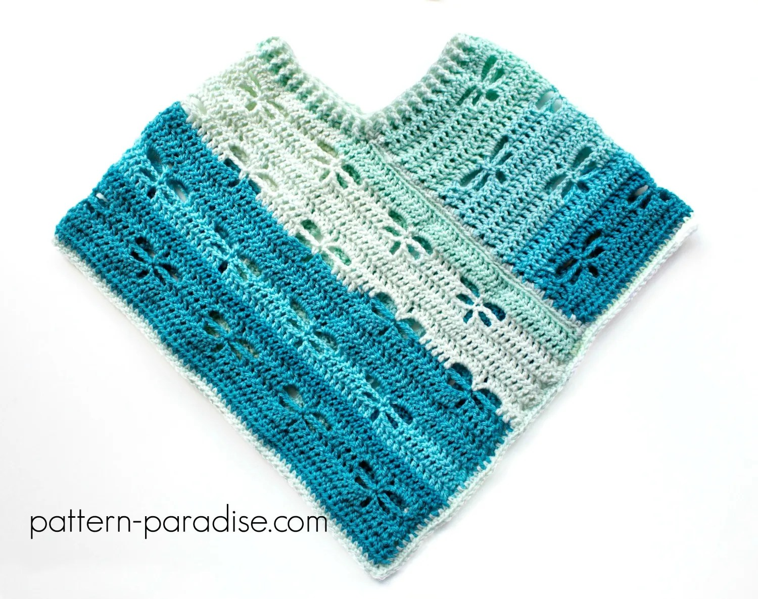 Free Crochet Pattern: Dragonfly Poncho Child/Adult | Pattern Paradise