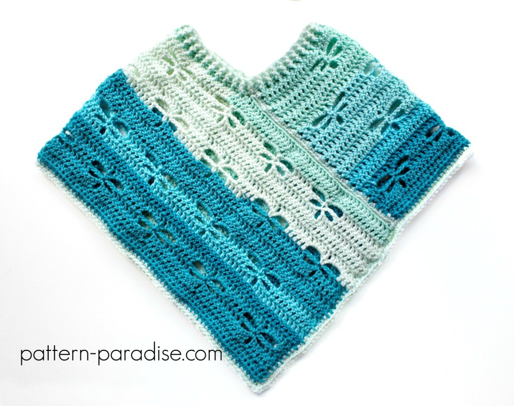 Free Crochet Pattern: Dragonfly Poncho Child/Adult ...