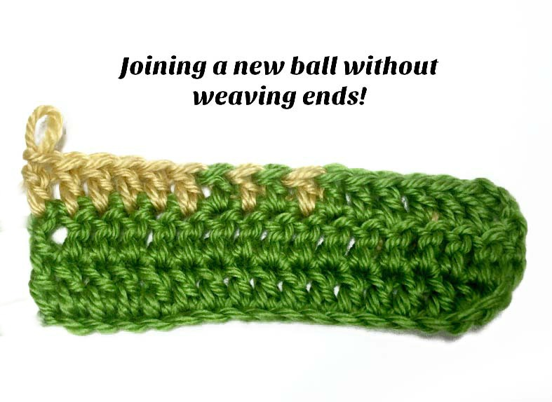 Video Tutorial Joining a New Ball of Yarn without Weaving in Ends by Pattern-Paradise.com
