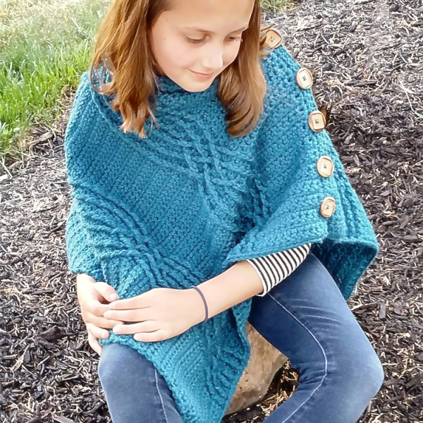 Crochet Pattern: Cabled Poncho