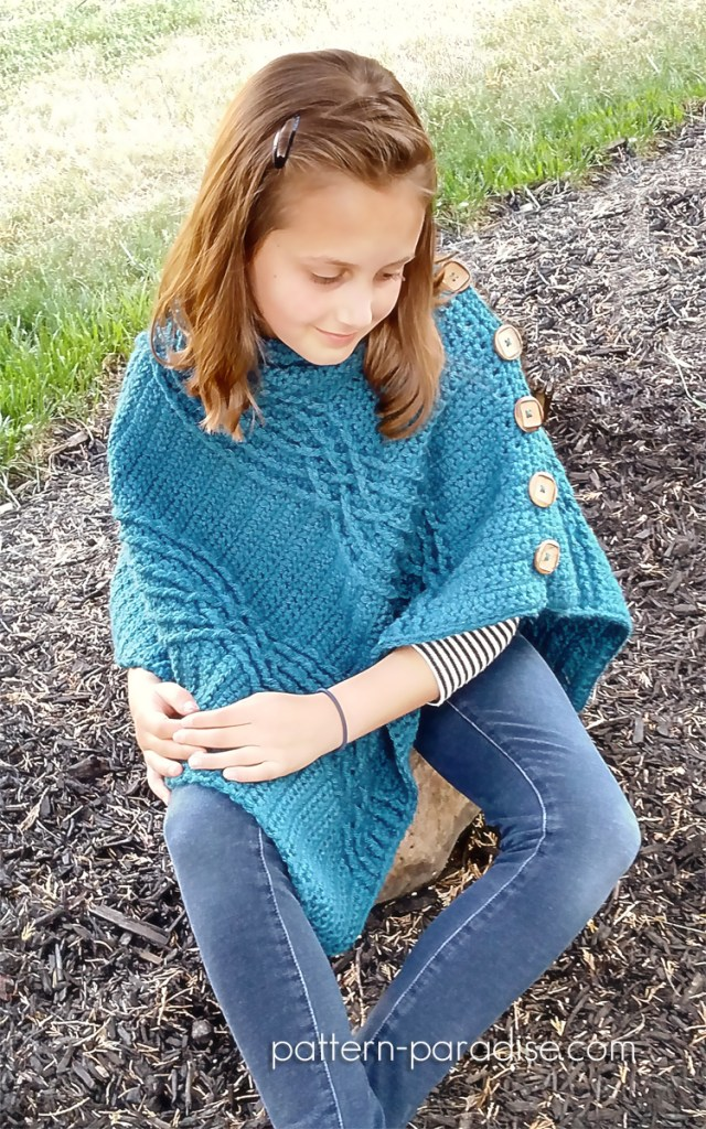 Cabled Poncho Crochet Pattern by Pattern-Paradise.com