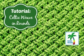 Tutorial: Celtic Weave Stitch in Rounds