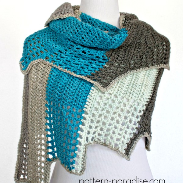 Free Crochet Pattern: Blue Ridge Wrap