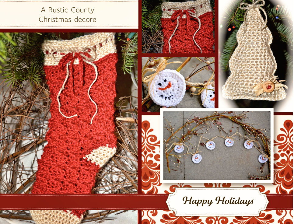 Free Crochet Pattern Rustic Country Christmas Pattern Paradise