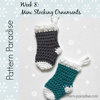 #12WeeksChristmasCAL Mini Stocking Ornaments