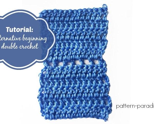 Tutorial: Alternative Beginning Double Crochet Method