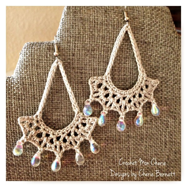 Free Crochet Pattern: Tanya's Teardrop Earrings