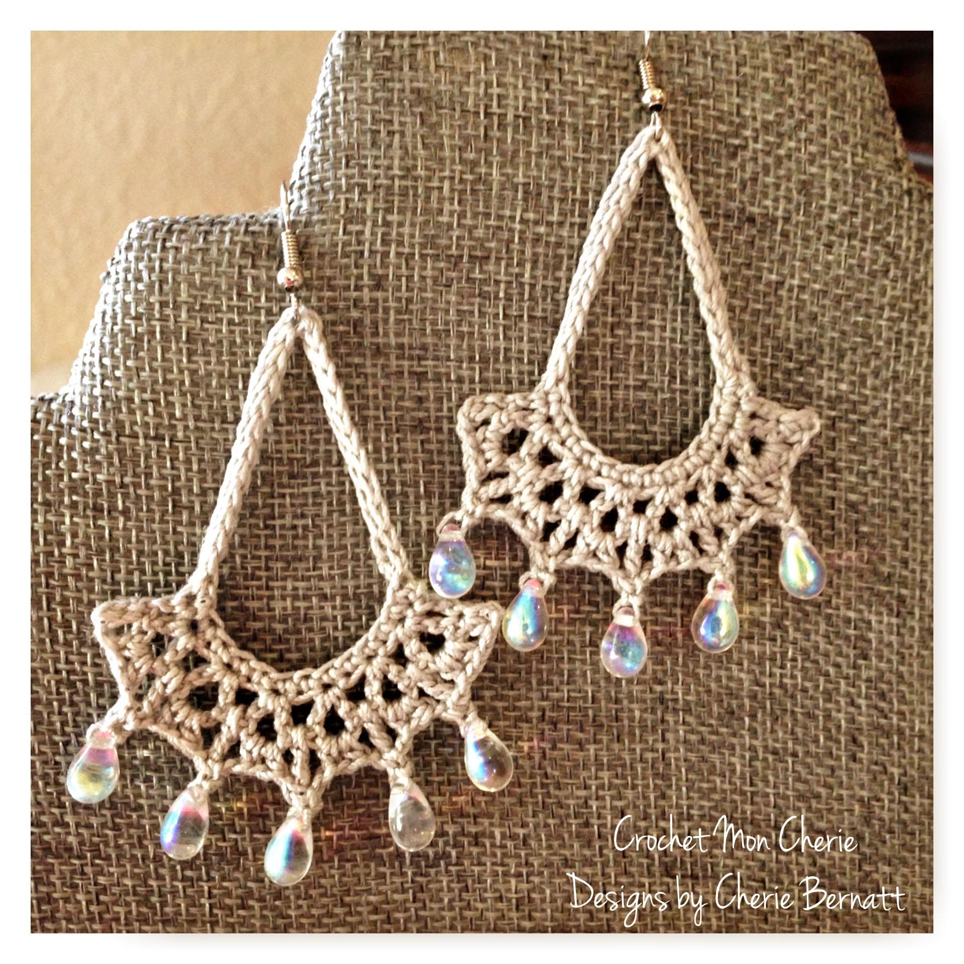 Free Crochet Pattern Tanyas Teardrop Earrings Pattern Paradise