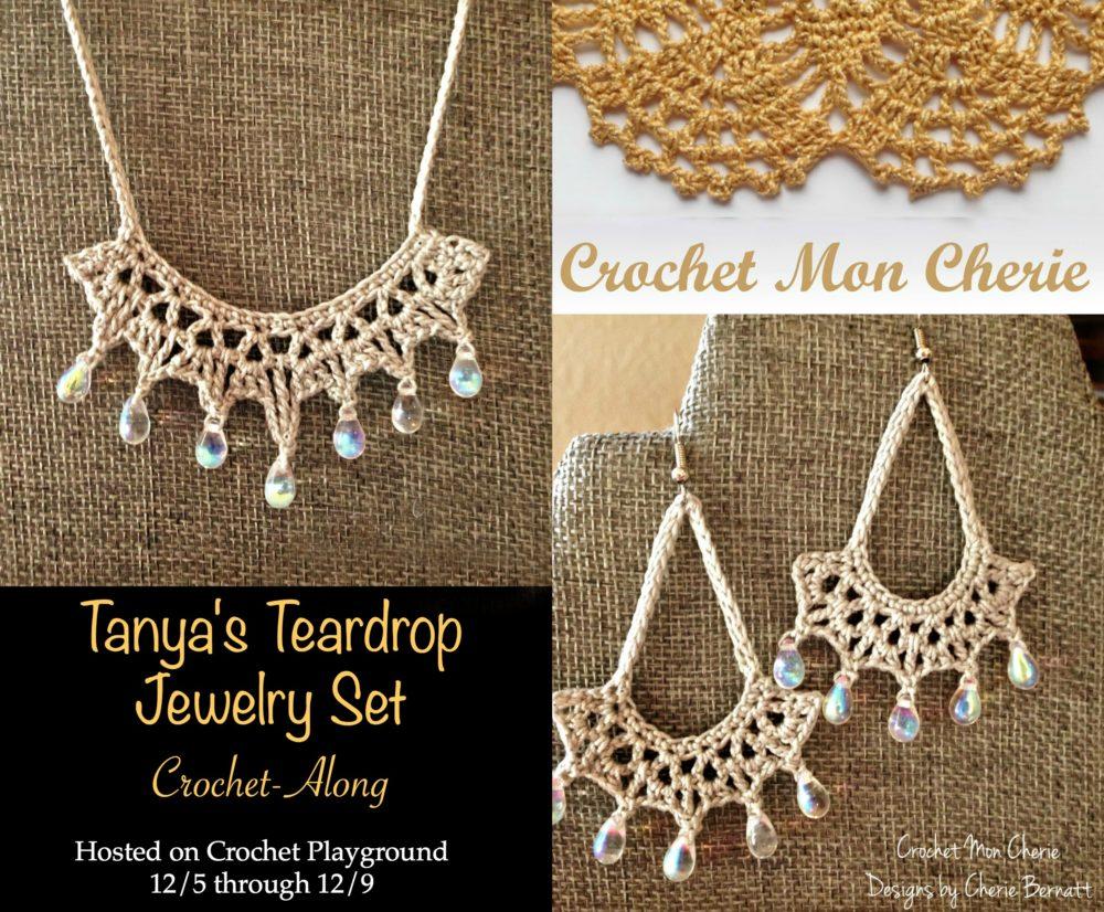 Crochet Pattern: Tanya's Teardrop Jewelry Set CAL on Pattern-Paradise.com