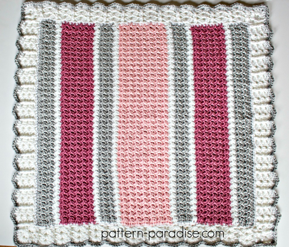 Essentials Baby Blanket Crochet Pattern by Pattern-Paradise.com