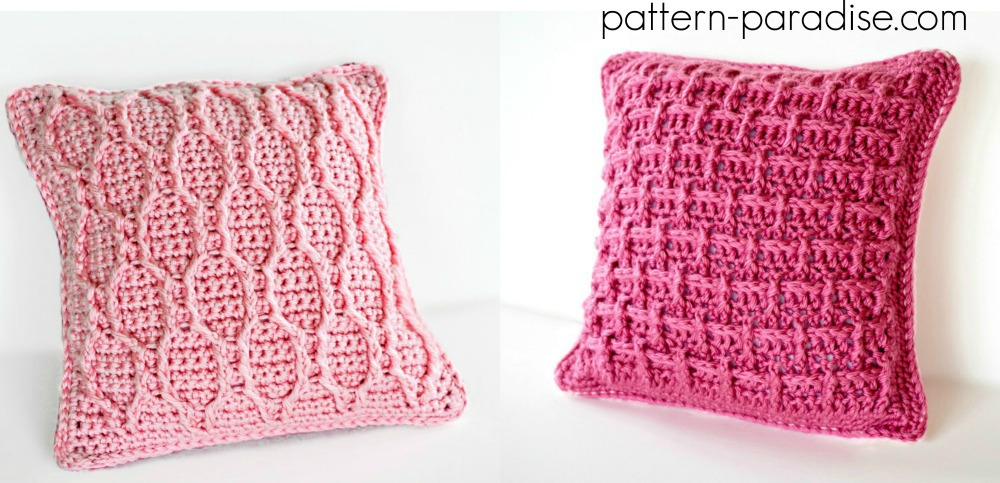Free Crochet Pattern Pretty In Pink Pillow Pattern Paradise