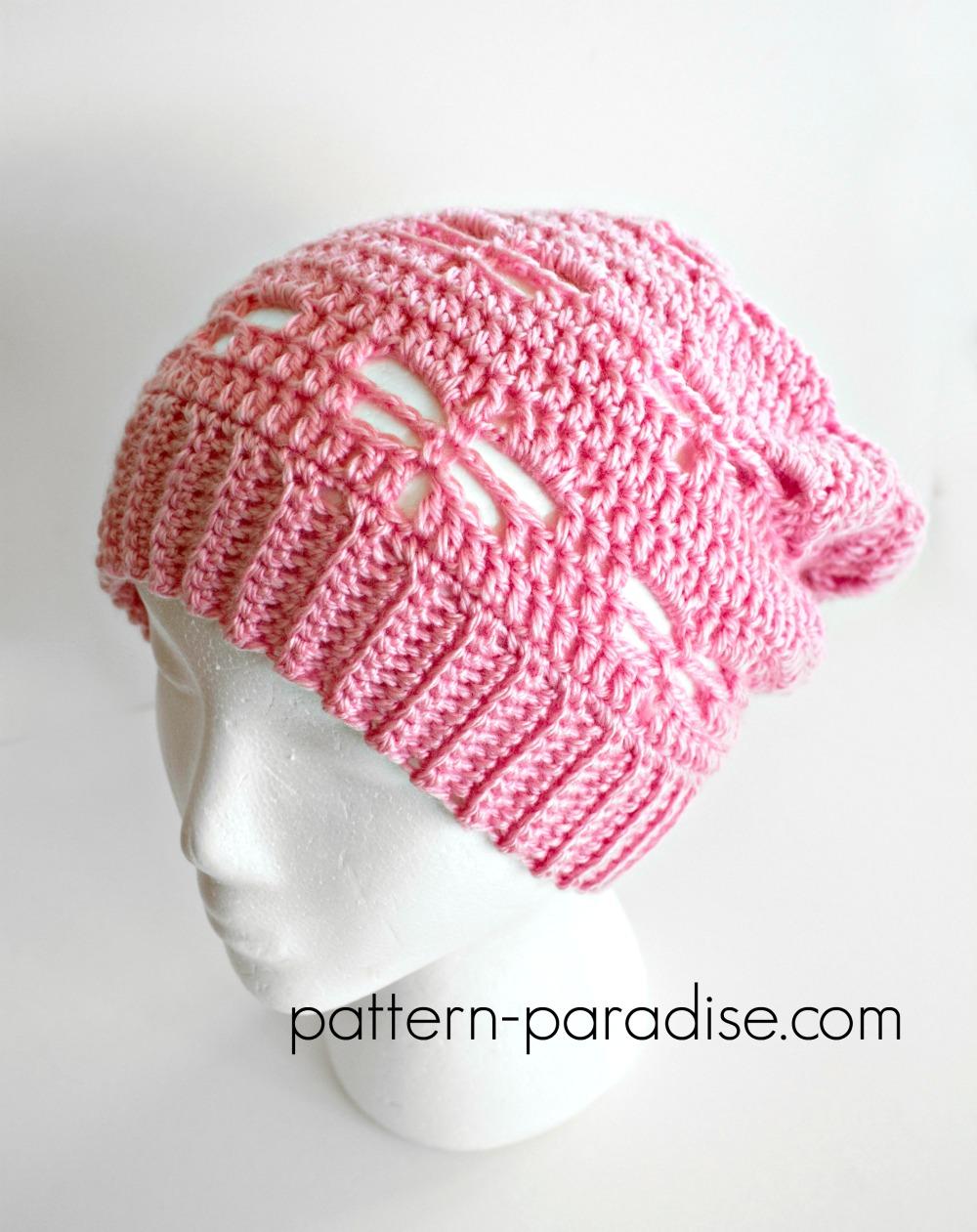 Free Crochet Pattern: Dragonfly Slouchy Hat Pattern Paradise