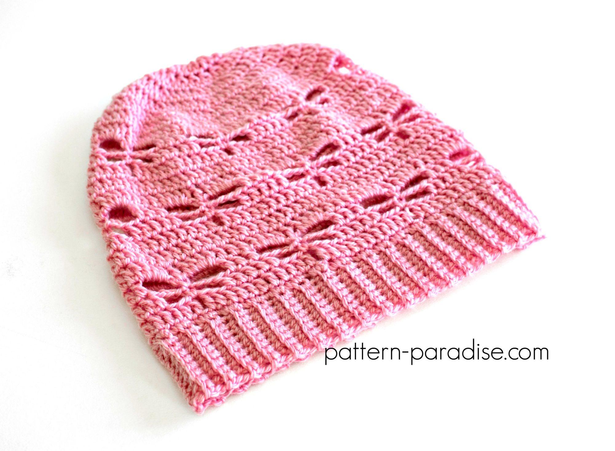 Free Crochet Pattern Dragonfly Slouchy Hat Pattern Paradise