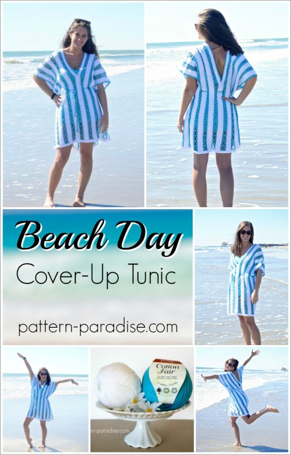 Free Crochet Pattern - Beach Day Cover-Up Tunic on Pattern-Paradise.com