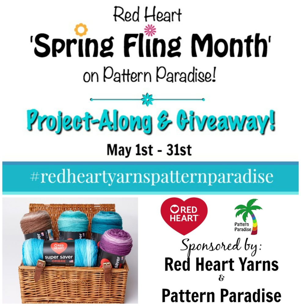 Red Heart Spring Fling Month on Pattern Paradise