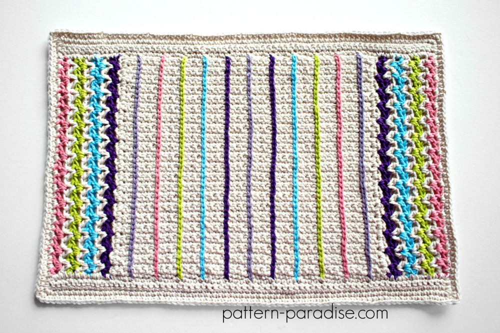 Free Crochet Pattern Spring Placemat Pattern Paradise