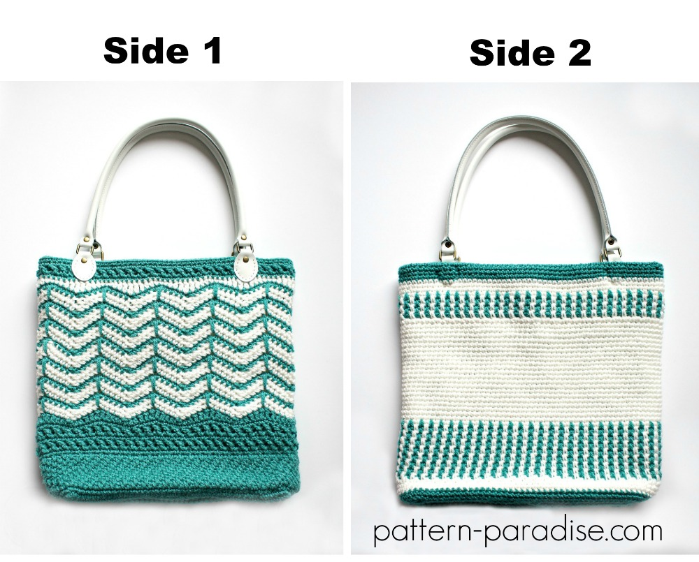 Free Crochet Pattern: Eve\'s Reversible Tote Bag   Pattern Paradise