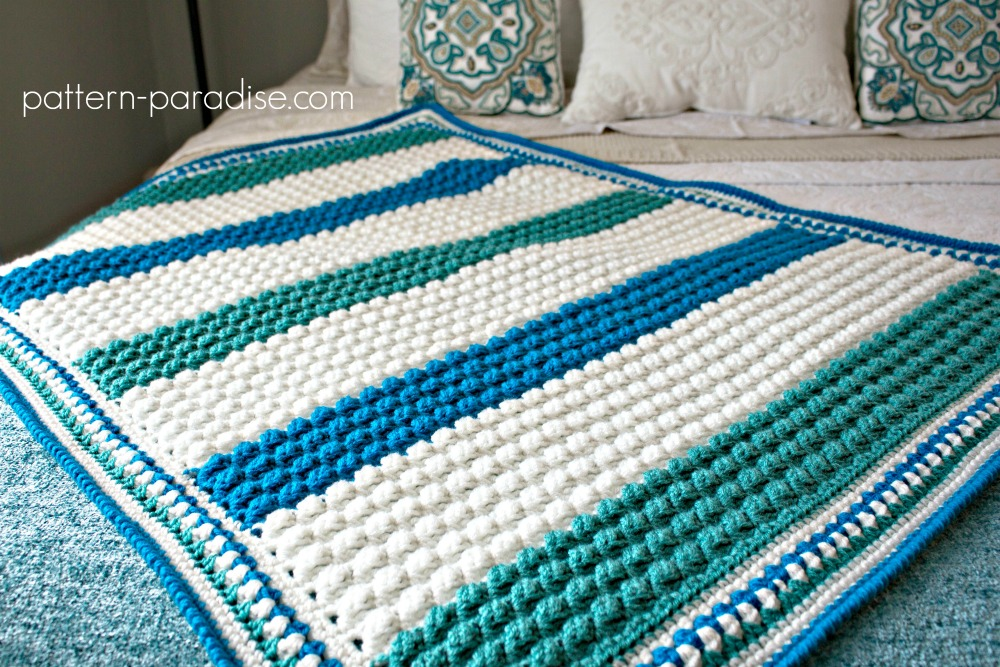 Free Crochet Pattern Blue Hawaiian Baby Blanket Pattern Paradise