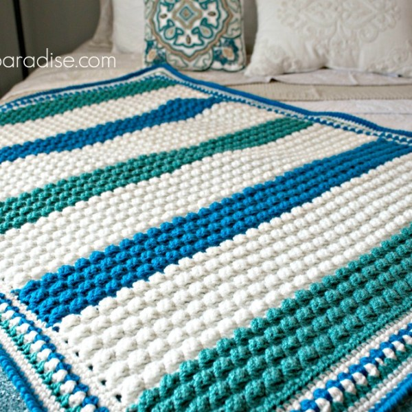 Free Crochet Pattern: Blue Hawaiian Baby Blanket