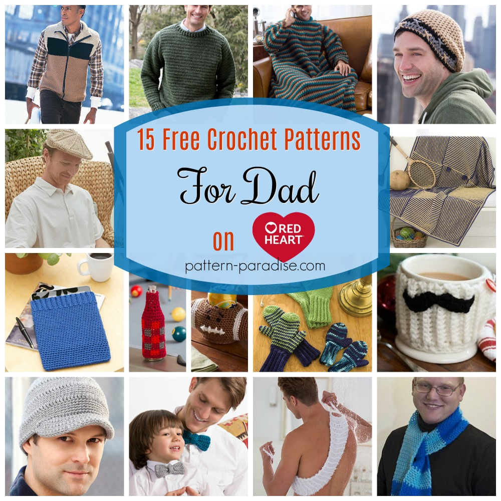 Crochet Finds Red Heart Yarns Crochet For Dad Pattern Paradise