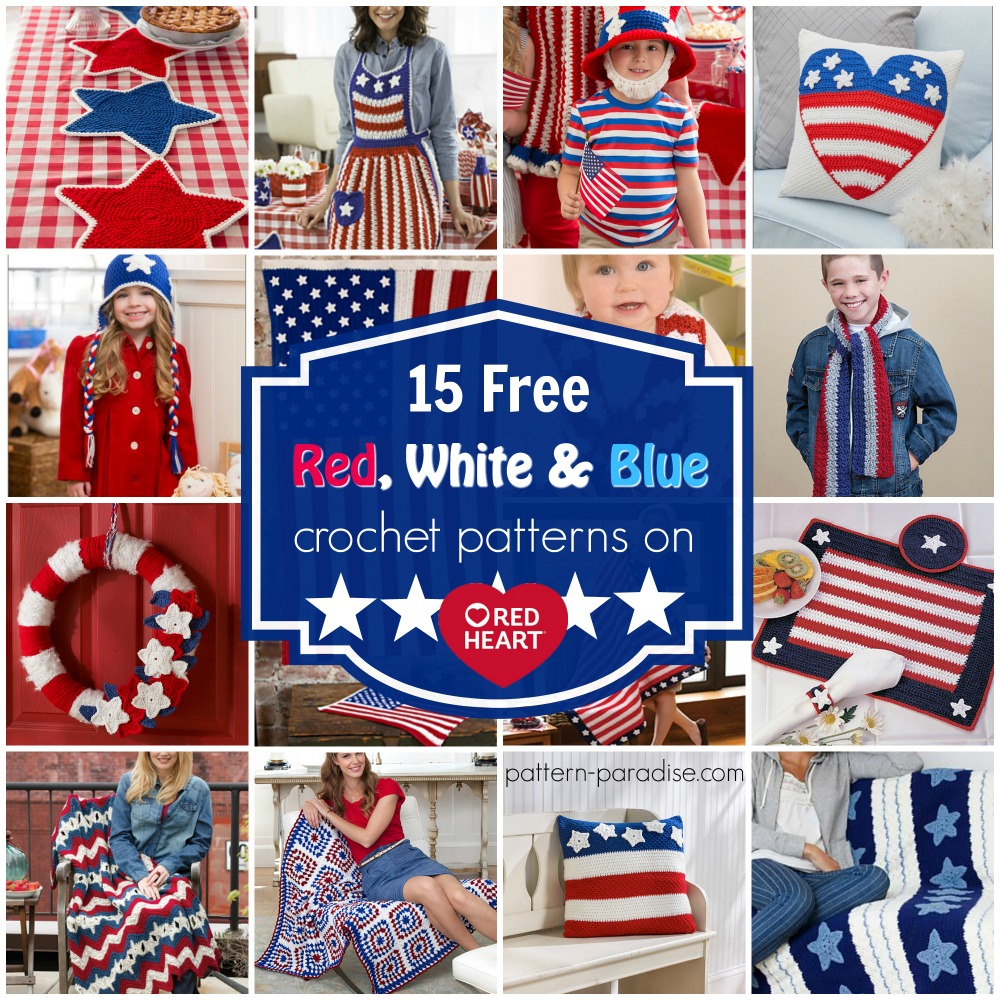 Crochet Finds – Red Heart Yarns Free Red, White and Blue !