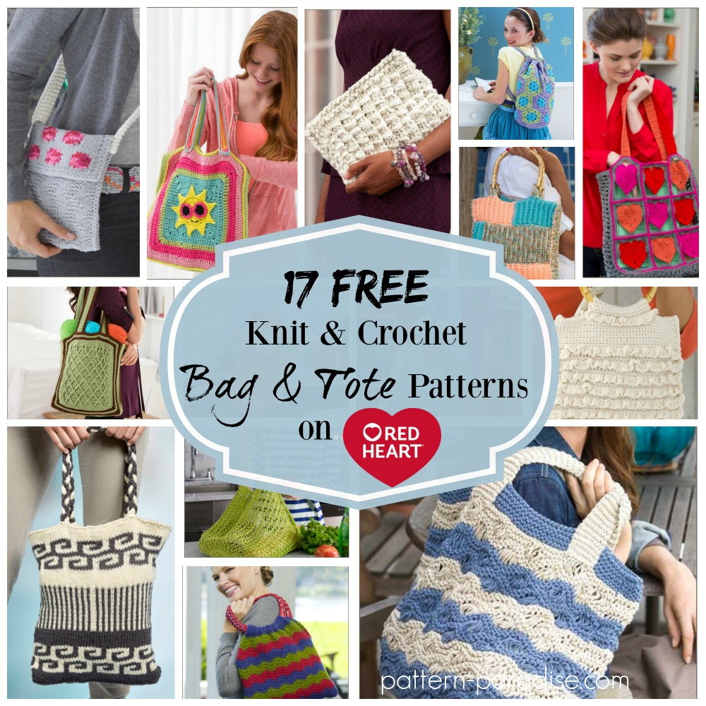 Crochet Finds - Red Heart Yarns Free Bag and Tote Patterns | Pattern ...