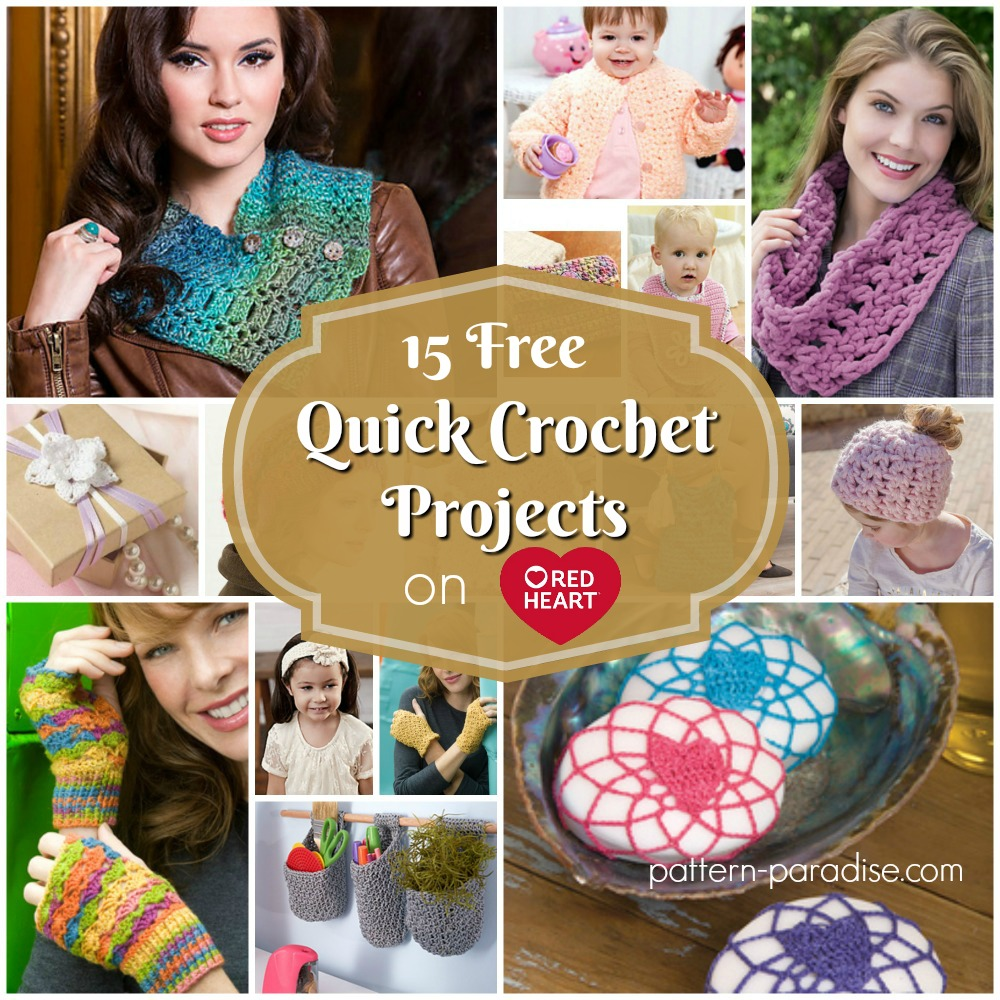 Crochet Finds - Red Heart Yarns Free Quick Projects | Pattern Paradise