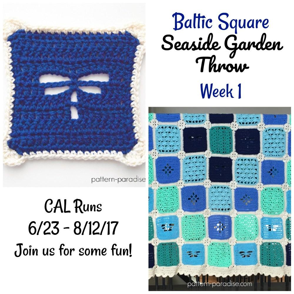 Seaside Garden Throw CAL – Baltic Square