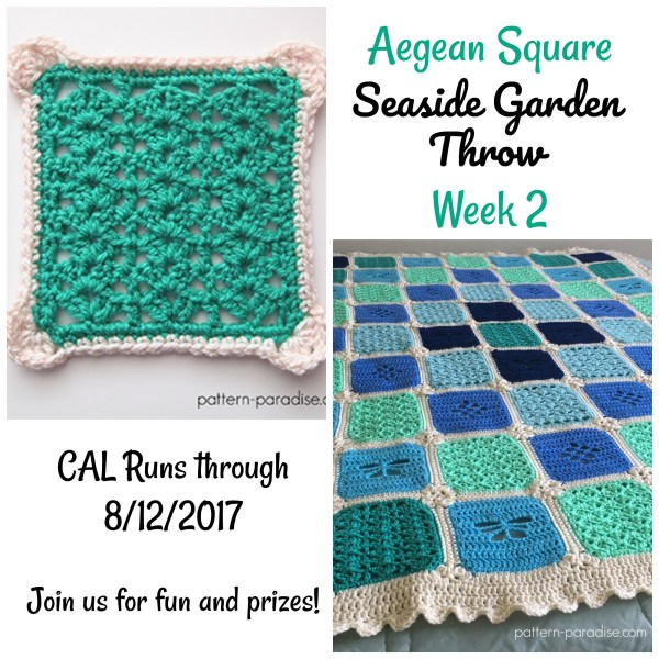Seaside Garden Throw CAL – Aegean Square