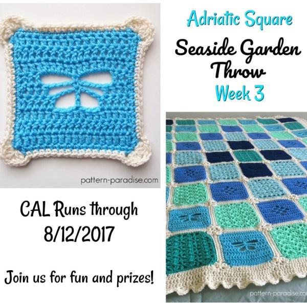 Seaside Garden Throw CAL – Adriatic Square