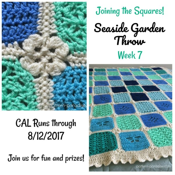 Seaside Garden Throw CAL – Joining The Squares
