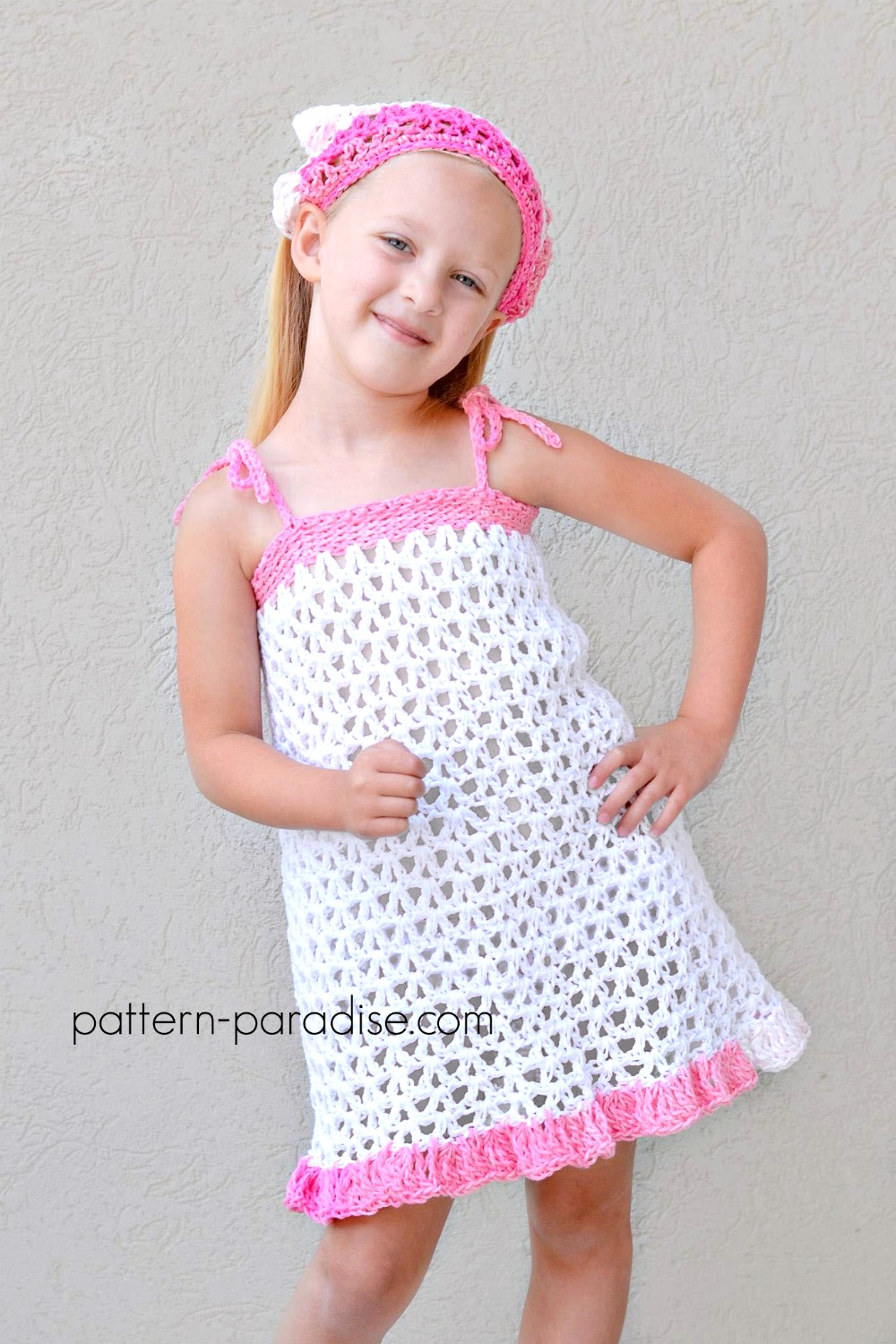 Free Crochet Pattern: Summer Cheer Dress and Kerchief Set | Pattern ...