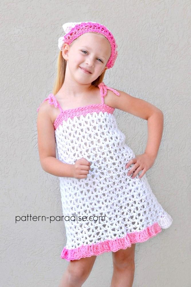 Free Crochet Pattern: Summer Cheer Dress and Kerchief Set