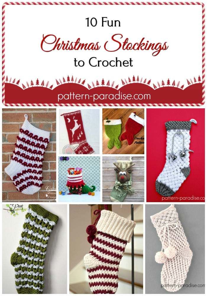 Crochet Christmas Stocking.Crochet Finds Christmas Stockings Pattern Paradise